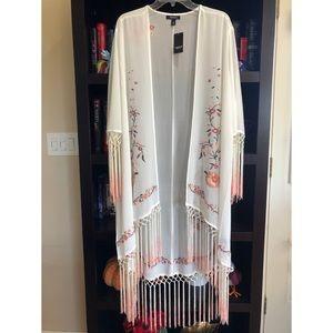 *FLAWS* Torrid 1/2 Dip-Dye Fringe Kimono